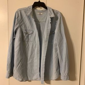 Chambray Button Up Top - Size XXL